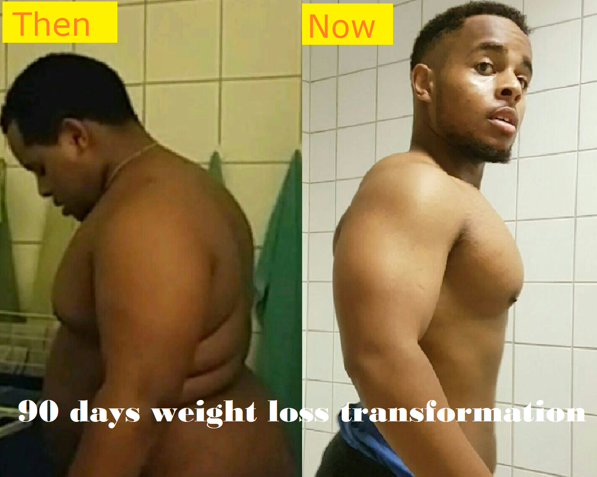 90 days weight loss transformation