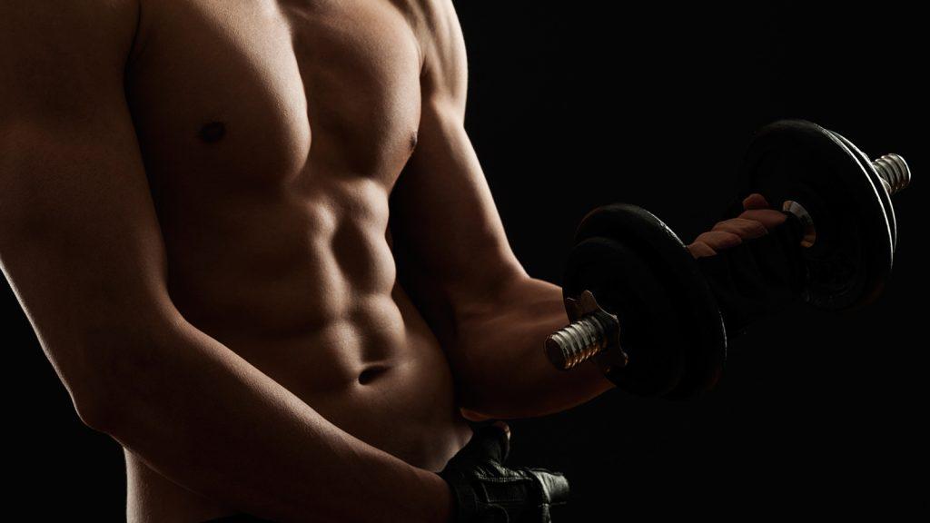 strong abs help improve running